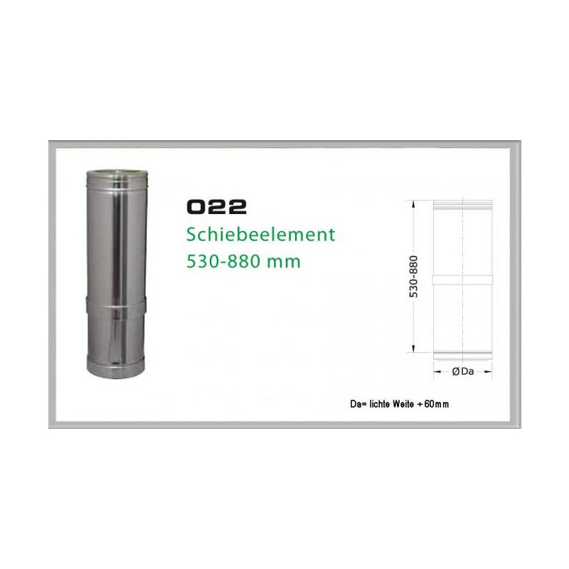 022-DN180 DW6 Schiebeelement 530 mm - 880 mm