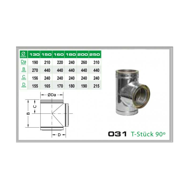 031-DN130 DW6 T-Stück 90-