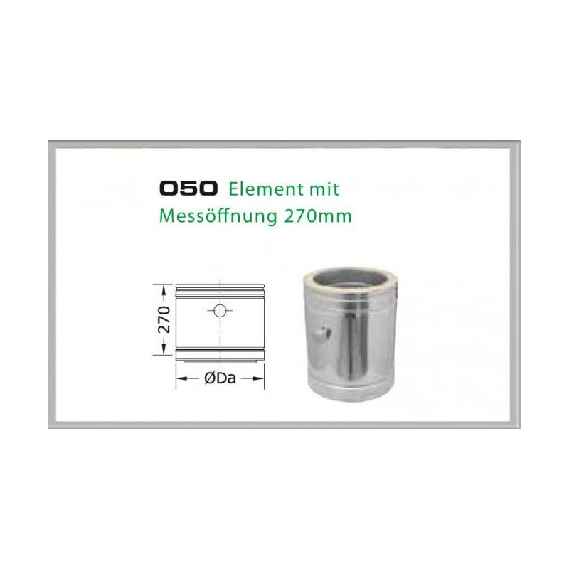 050-DN180 DW6 Element mit Messöffnung 330-270 mm