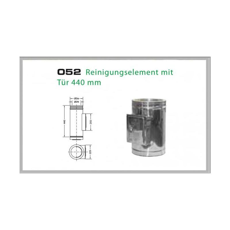 052-DN180 DW6 Reinigungselement mit Tür 500mm - 440 mm