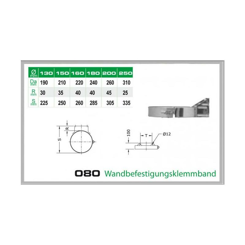 080-DN250 DW6 Wandbefestigungs-klemmband