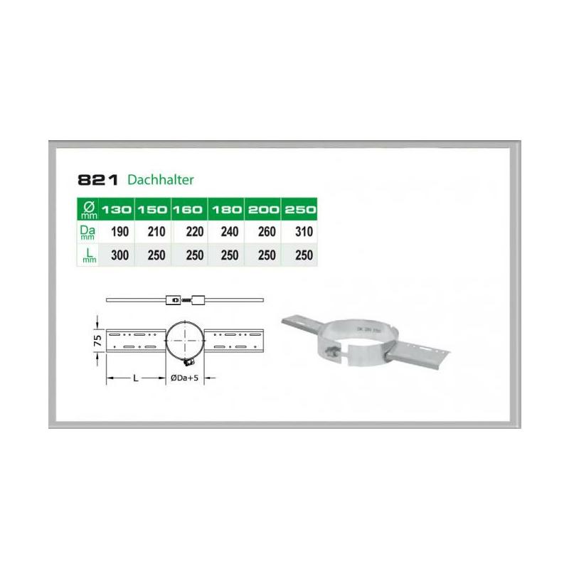 082-DN200 DW6 Dachhalter-Sparrenhalter