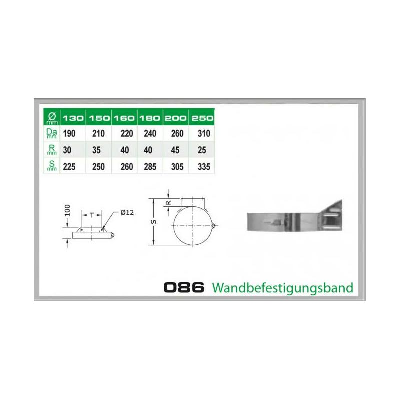 086-DN150 DW5 Wandbefestigungsband