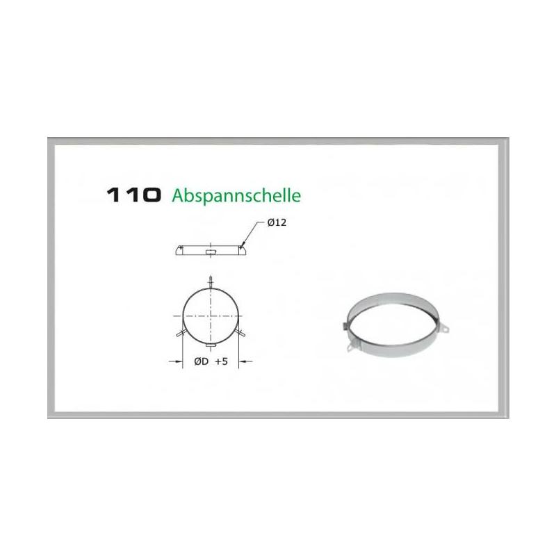 110-DN180 DW6 Abspannschelle