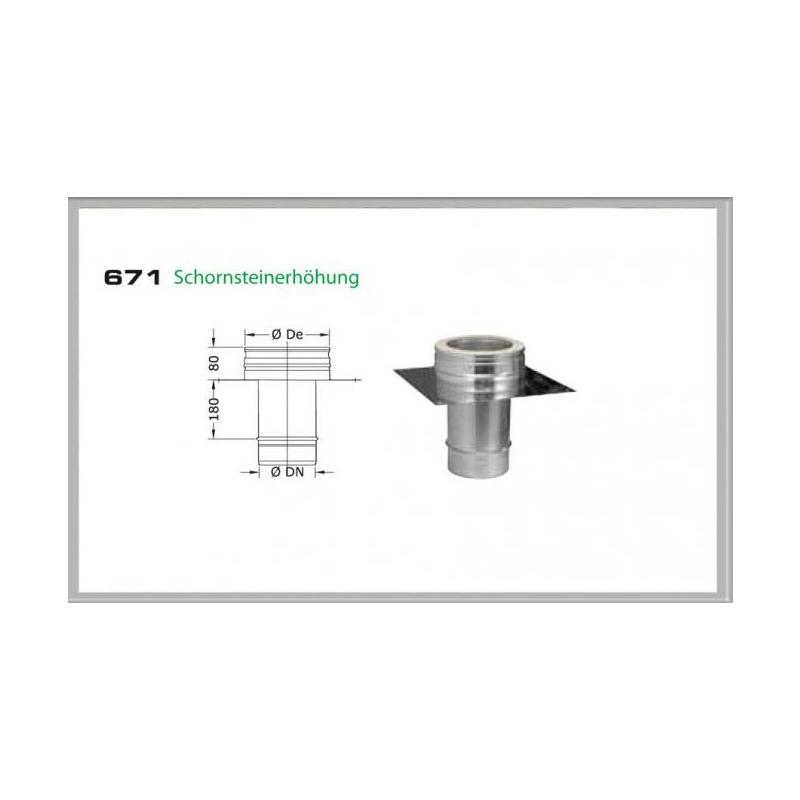 67S-DN180 DW6 Schornsteinerhöhung