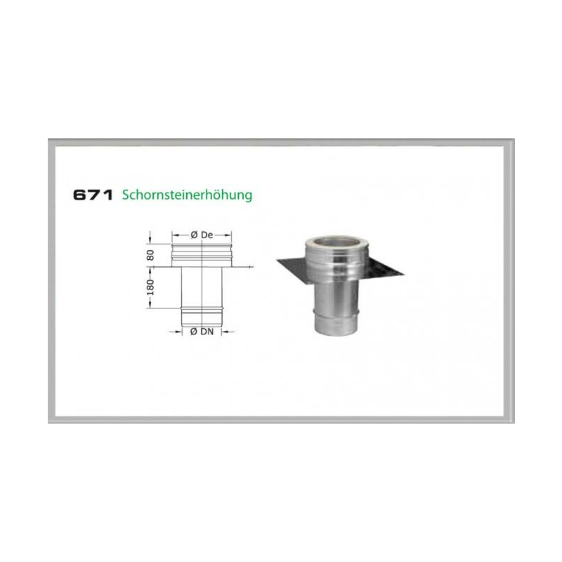 67S-DN250 DW5 Schornsteinerhöhung