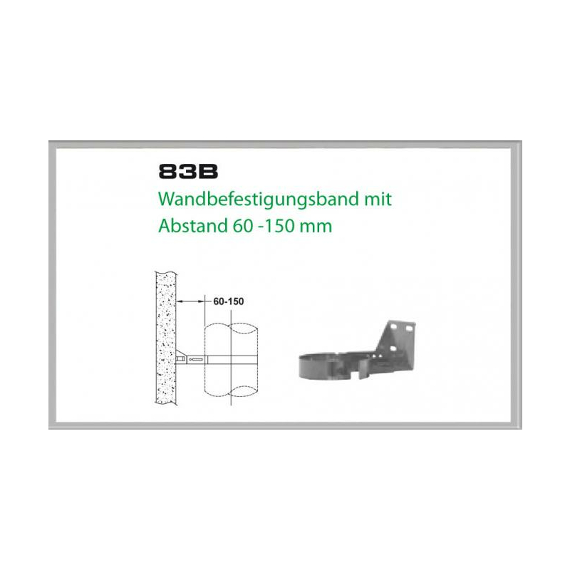 83A-DN200 DW5 Wandbefestigungsband mit Abstand 60-150 mm