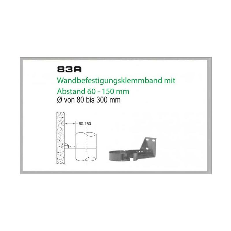 83B-DN150 DW6 Wandbefestigungsklemmband mit Abstand 60-150 mm