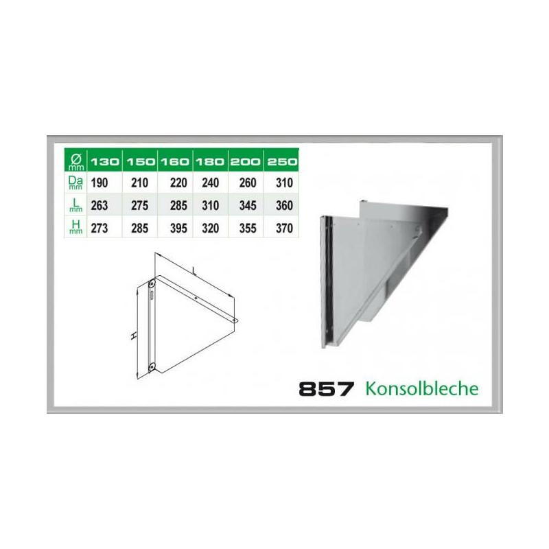 857-DN130 DW6 Konsolbleche 60-150mm Wandabstand