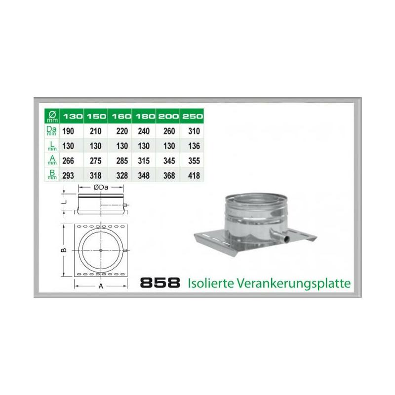858-DN150 DW5 Isolierte Verankerungsplatte mit Ablauf seitlich