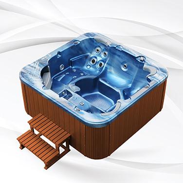 American Outdoor Whirlpool Torina Ocean Blue - Teak 215x215cm
