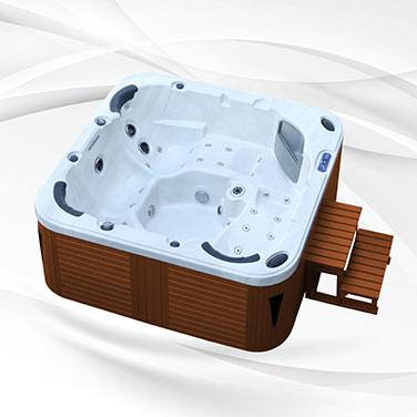 American Outdoor Whirlpool Torina Sterling Silver - Teak 215x215cm