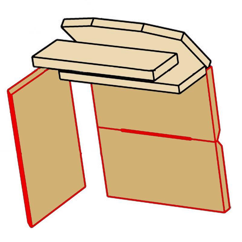 Ausmauerung Vermiculite passend für Kaminofen Dioptas Darina Damaris Mainau Kaminofen von Eurotherm