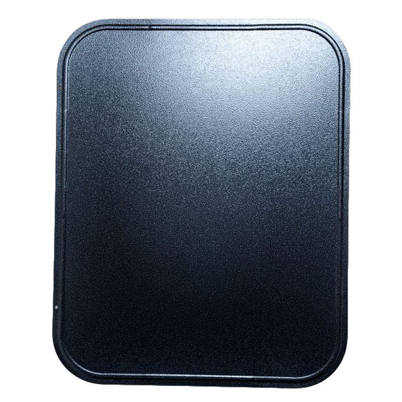 Bodenblech HSL silber-schwarz 60 x 80 x 0-6 cm