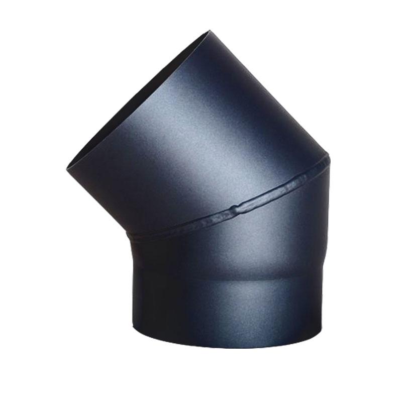 Bogen 45-ohne Tür DN 200mm schwarz -310
