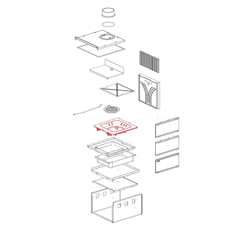Brennraumboden für Fiammetta von La Nordica