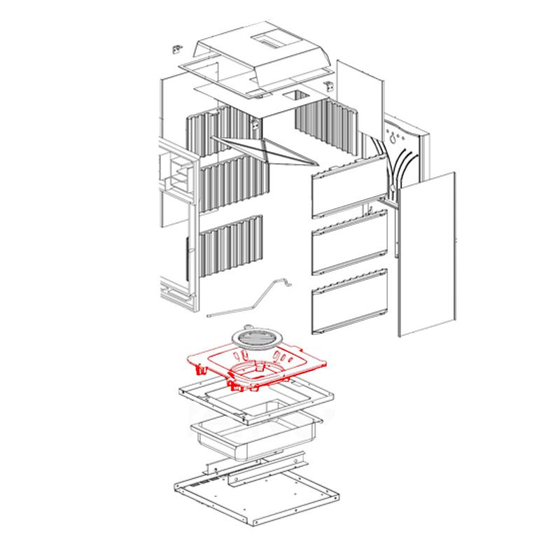 Brennraumboden für Fulvia- Fulvia Forno von La Nordica