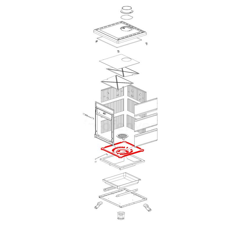 Brennraumboden für Rossella R1- R3- Plus- Forno von La Nordica