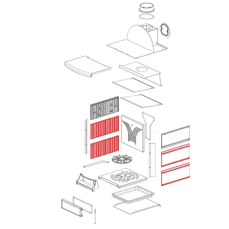 Brennraumplatte für Stefany- Stefany Forno von La Nordica