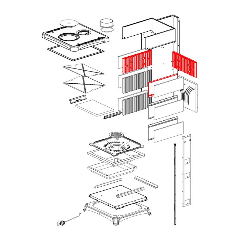Brennraumplatte oben für Fedora von La Nordica
