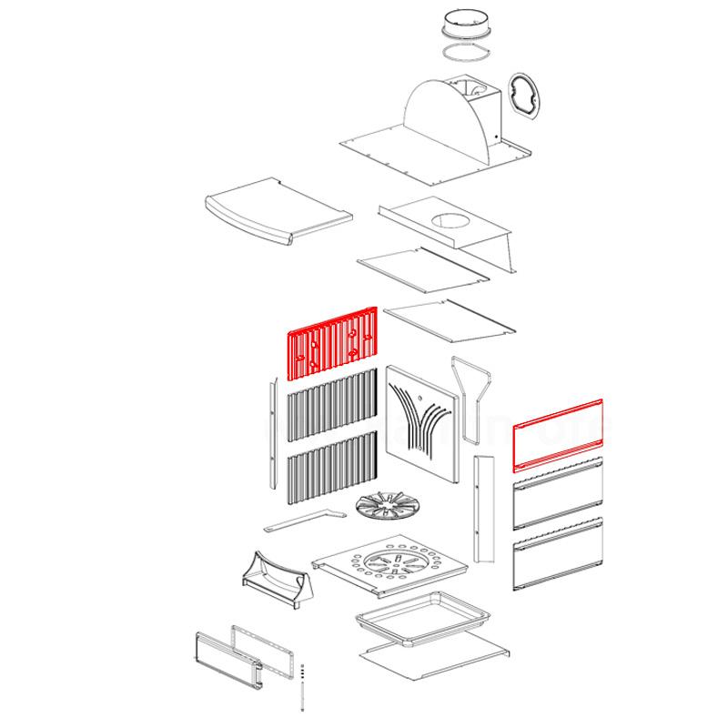 Brennraumplatte oben für Stefany- Stefany Forno von La Nordica