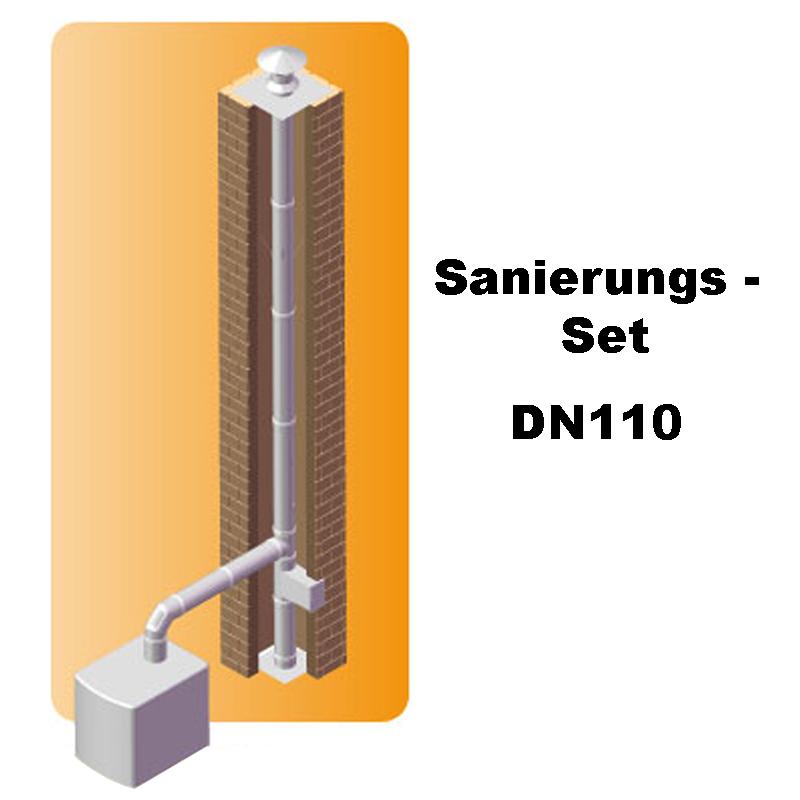 Dinak SW6 Sanierungs-Set 110mm Edelstahl 7m