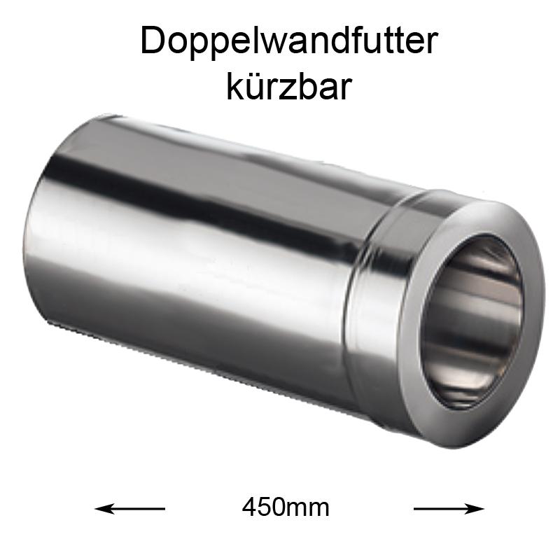 DW Complete Doppelwandfutter 450mm kürzbar 130mm
