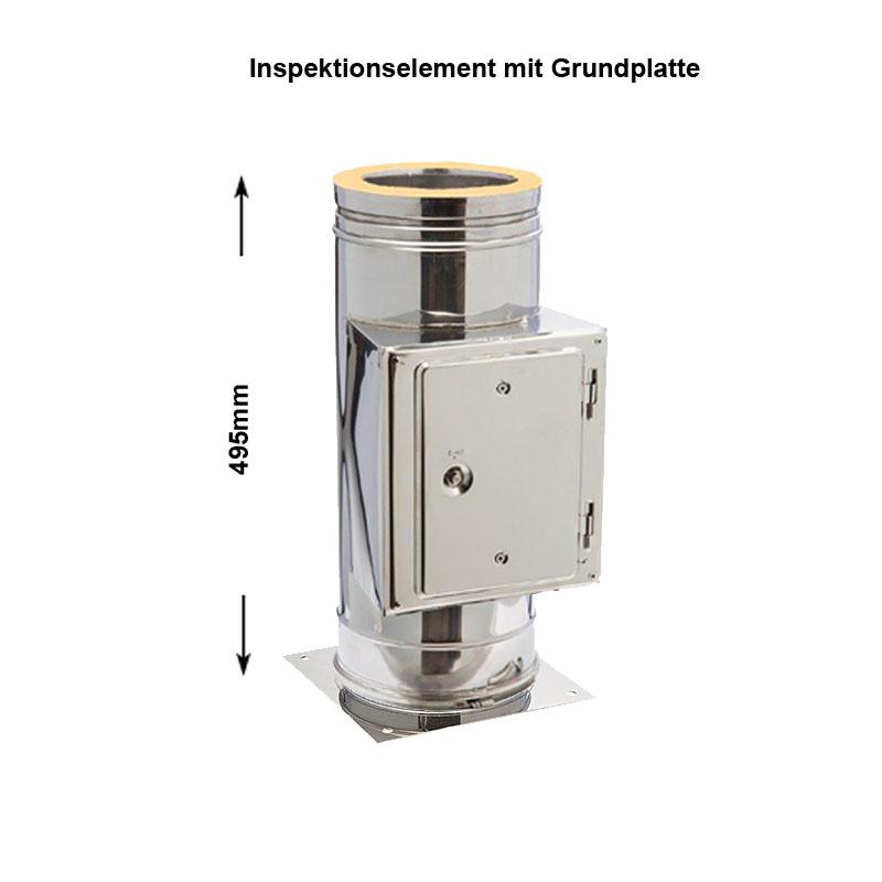 DW Complete DW Complete Putztüranschluss eckig 130mm inkl- Kondensatablauf unten