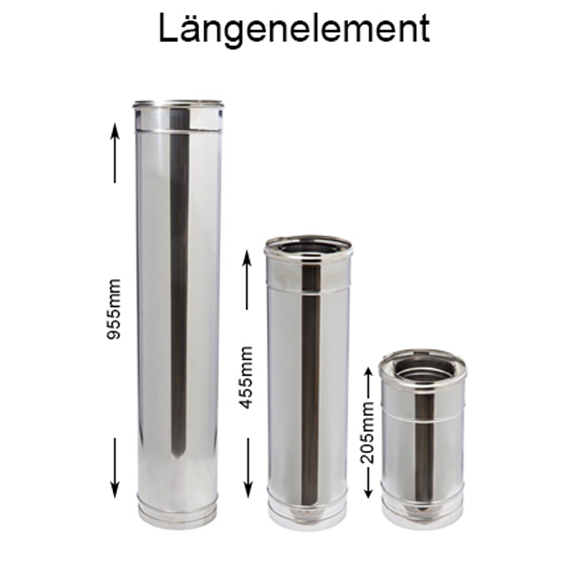DW Complete Längenelement 250mm 150mm