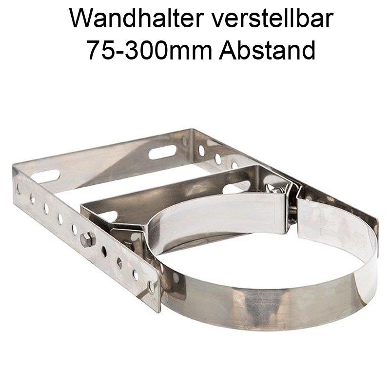 DW Complete Wandhalter verstellbar 75-300mm für DN 180mm