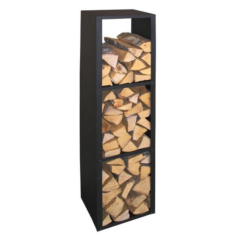 Holzregal Metall schwarz Brennstoffregal