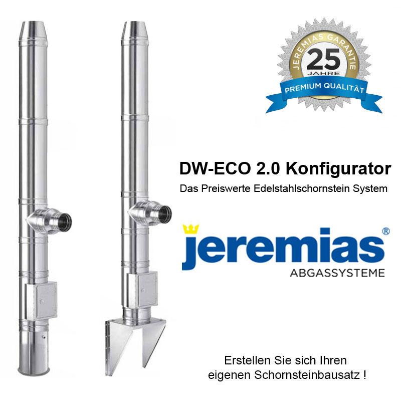 Jeremias DW-ECO 2-0 Edelstahlschornstein Konfigurator 130mm - 200mm