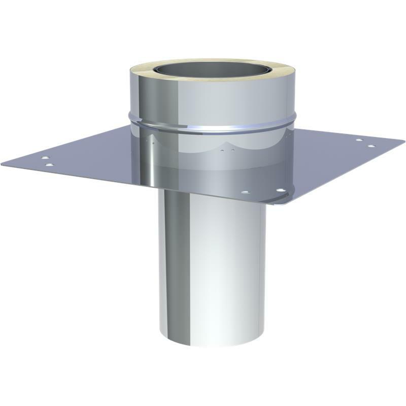 Jeremias DW-FU Grundplatte für Kaminerhöhung Einschub Rund