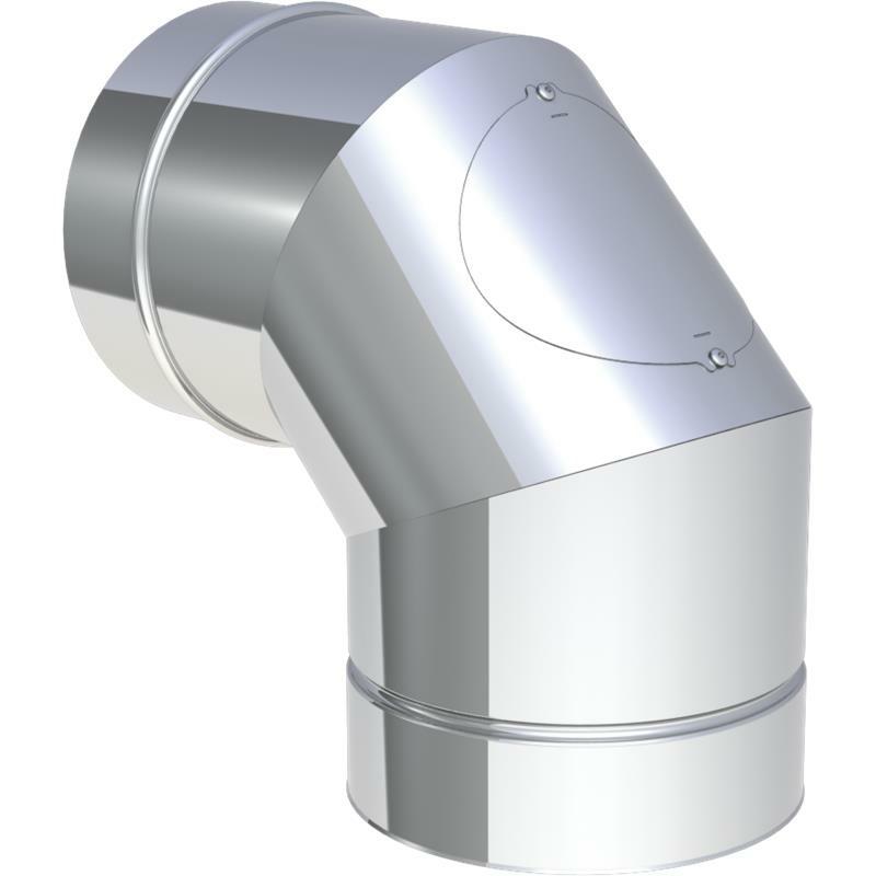 Jeremias DW-FU Winkel 90- mit Tür Glatt Design für Festbrennstoffe (Innenbereich)
