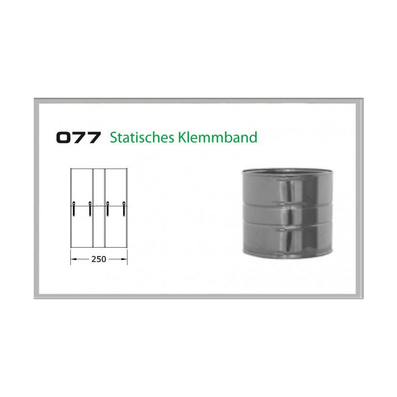 Klemmband statisch für Schornsteinset 200mm DW6