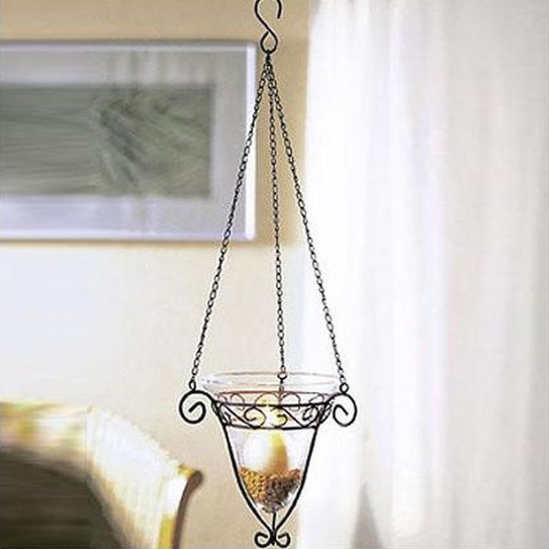 Metallhänger mit Glaseinsatz