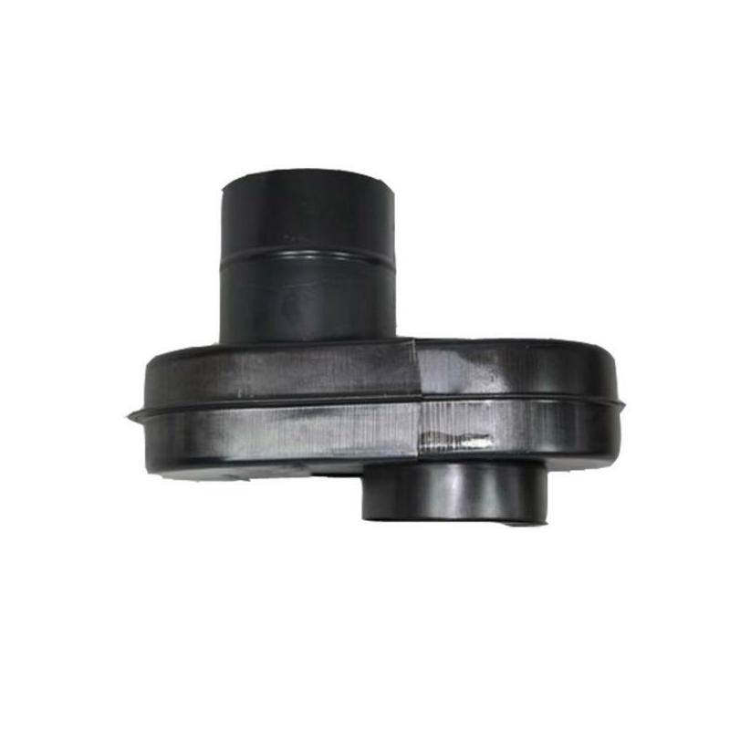 Ofenanschluss verstellbar 230mm - 400mm DN120mm Flachknie gebläut