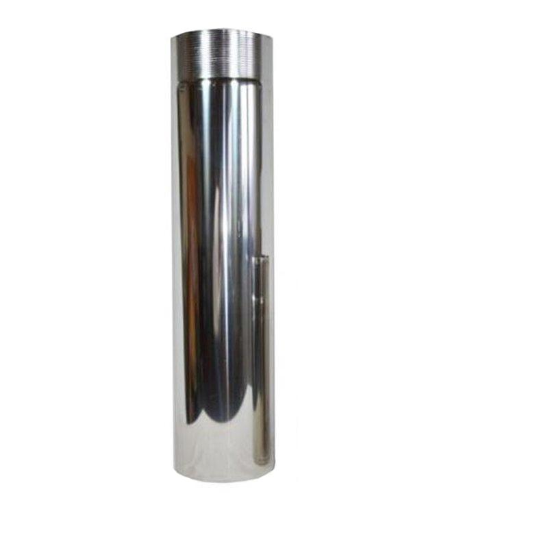 Ofenrohr Edelstahl - Länge 1-00m DN 130mm