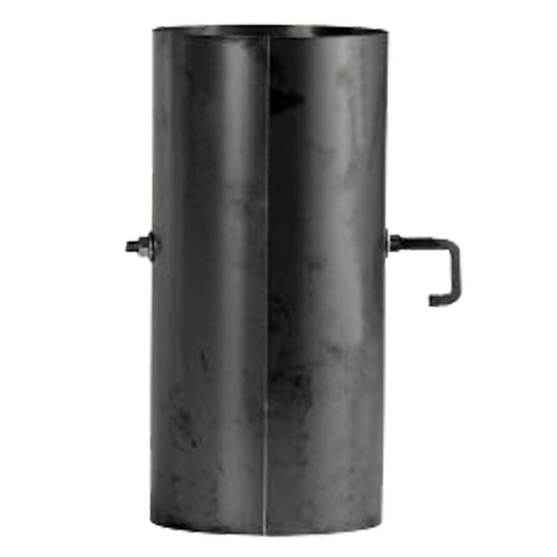 Ofenrohr mit Sperrer 0-25m gebläut DN 130mm