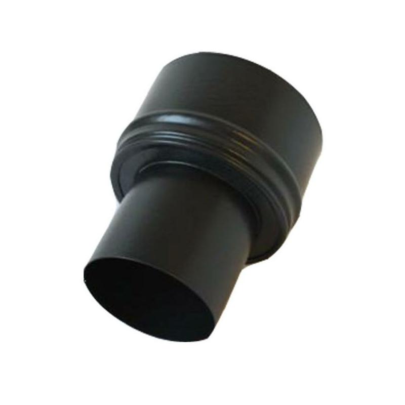 Pellet- Ofenrohr-Erweiterung 80-130mm matt-schwarz emailliert