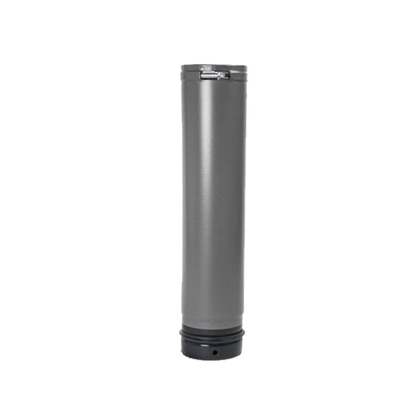 Pellet- Ofenrohr Fix-Rohr 0-5m DN 80mm gussgrau emailliert