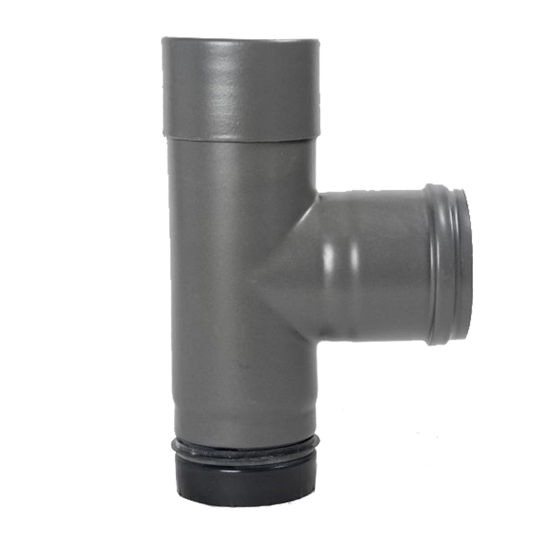 Pellet- Ofenrohr-Kapselknie DN 80mm gussgrau emailliert