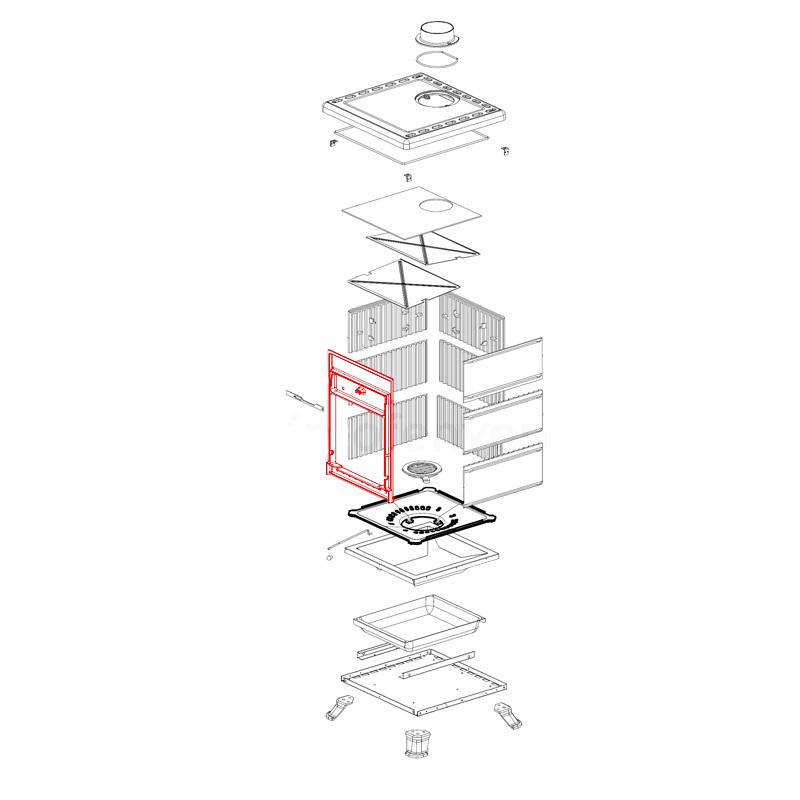 Rahmen Feuerraum vorne für Rossella R1 und R3 von La Nordica