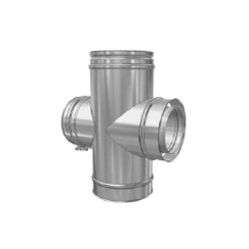 Schiedel ICS Rauchrohranschluss 90- DN 150mm mit Putztüranschluss rund für Öl-Gas