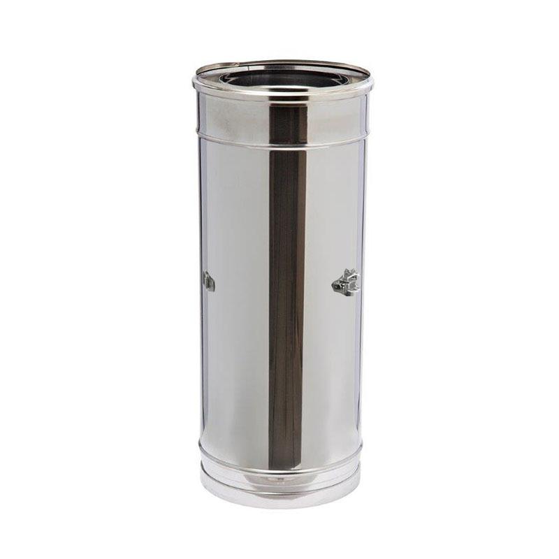 Schiedel ICS Rohrelement 500mm mit Kugelfang und Doppelwandfutter DN 130mm