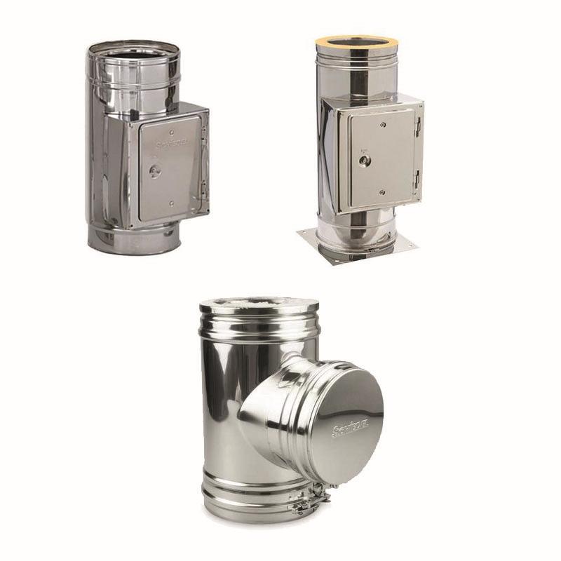 Schiedel ICS Rohrelement mit Reinigungsöffung doppelwandig DN 80-300mm