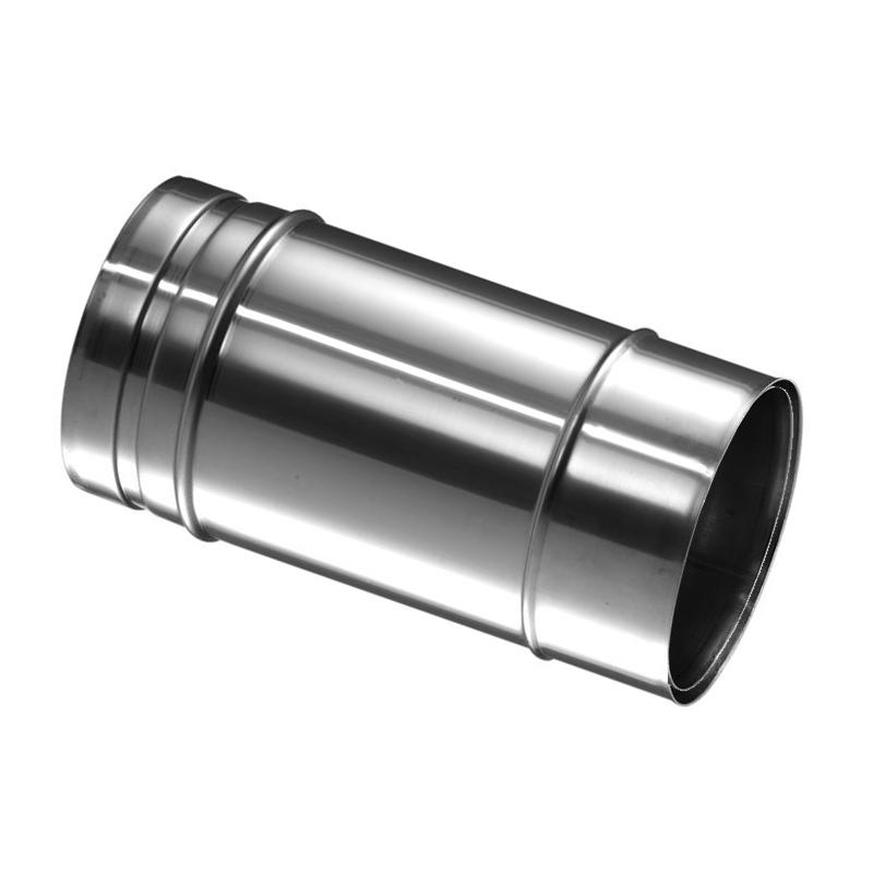 Schiedel Prima Plus PPL Anschlussfutter einwandig kürzbar mit gleichem oder Reduziertem Abgang für T-Stück eingesteckt