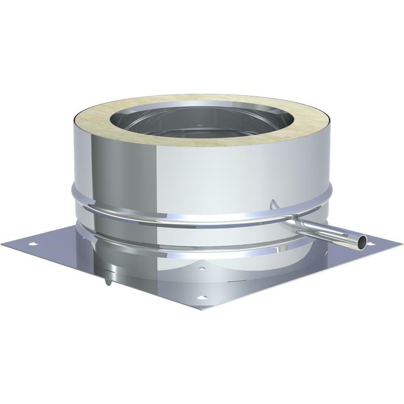Tecnovis DW-Classic Grundplatte für Sockelmontage mit 1-2 Zoll Aussennippel und Kondensatablauf seitlich