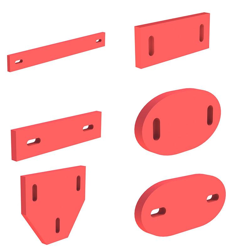 Tecnovis DW-Classic Matte zur Schallentkopplung für Wandhalter