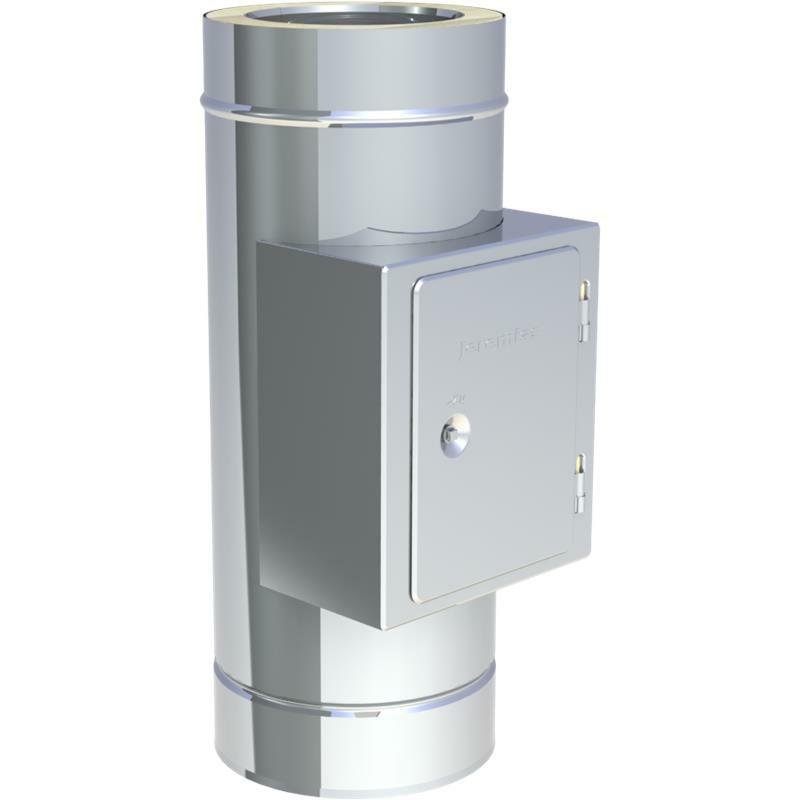 Tecnovis DW-Classic Reinigungelement mit Russschutzür Eckig bis 600-C Unterdruckbetrieb
